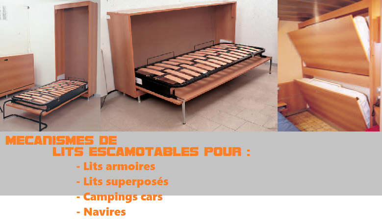 Amazing mecanisme de lit rabattable 6 m canisme pour lit for Lit rabattable vertical